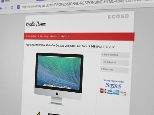 Koolio - Responsive eBay Listing Template