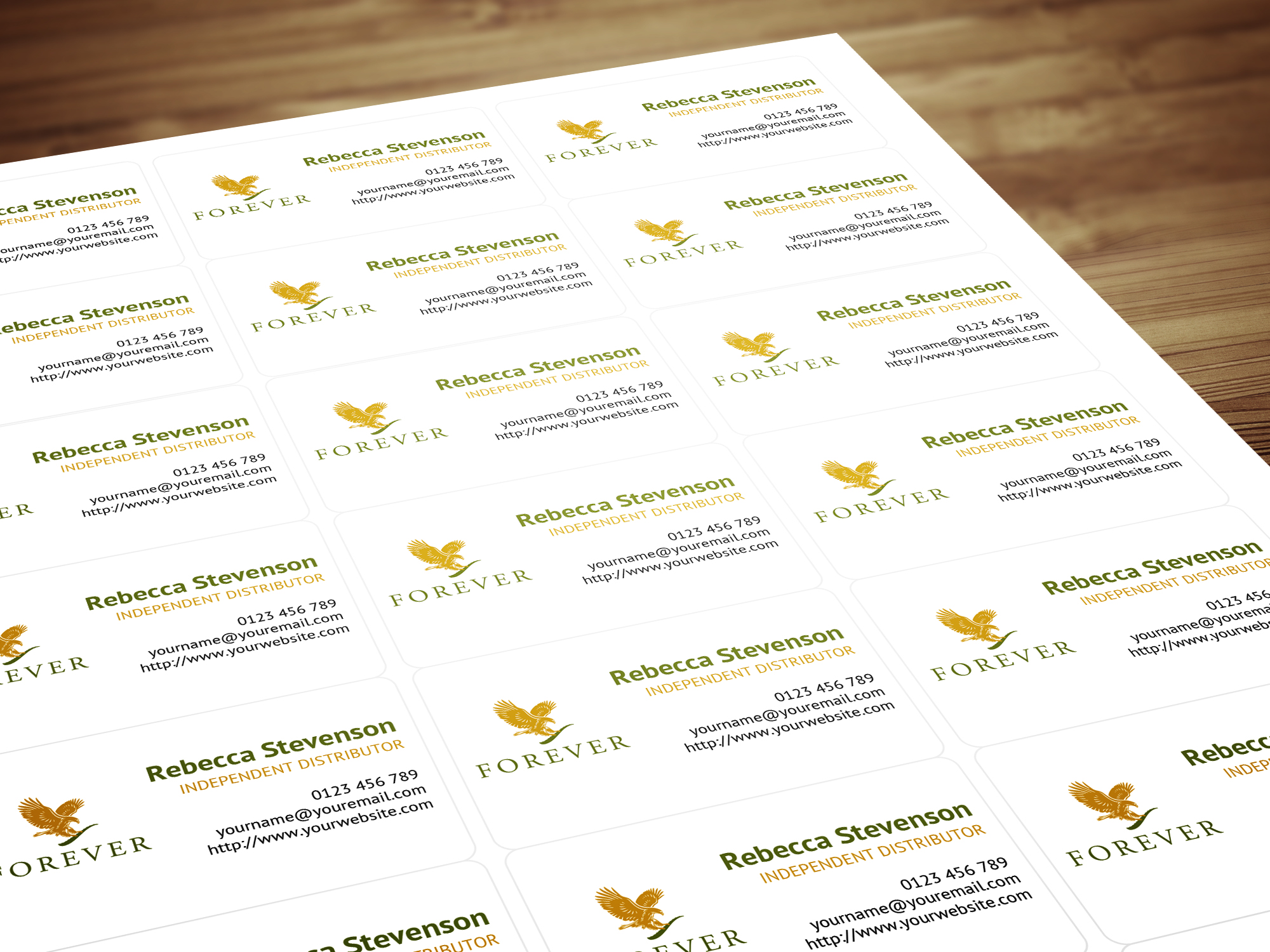 Personalised Labels / Stickers for Forever Living Products ...