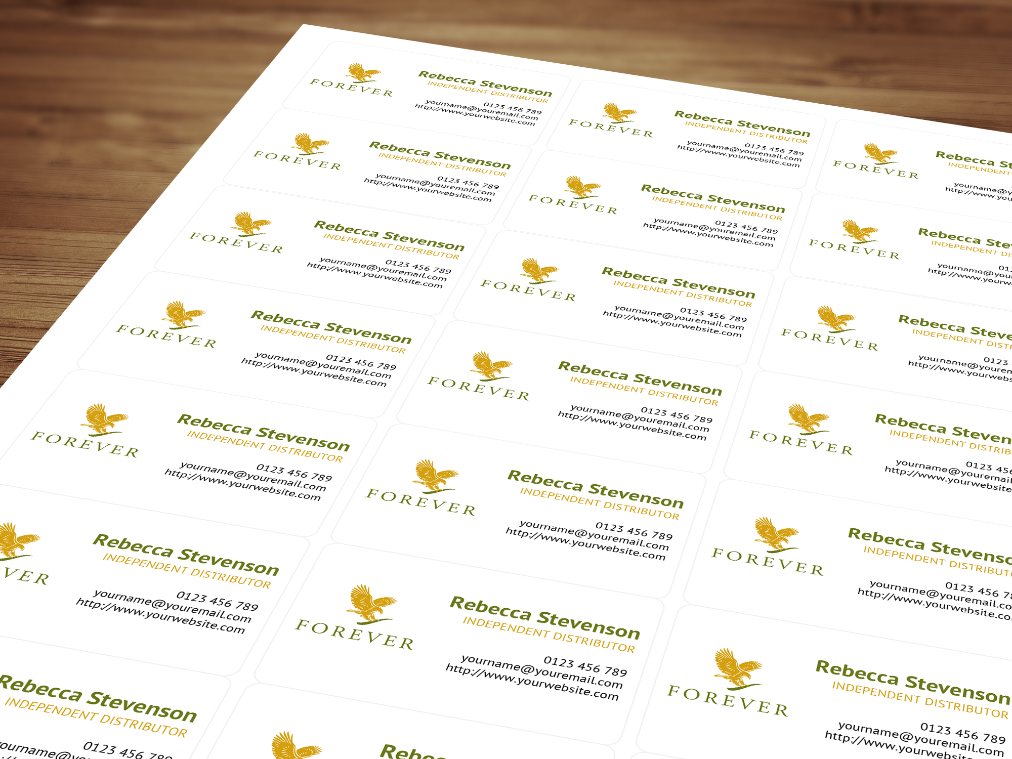 Personalised labels stickers for forever living products personalised forever living independent distributor labels stickers 21 per sheet magicingreecefo Images