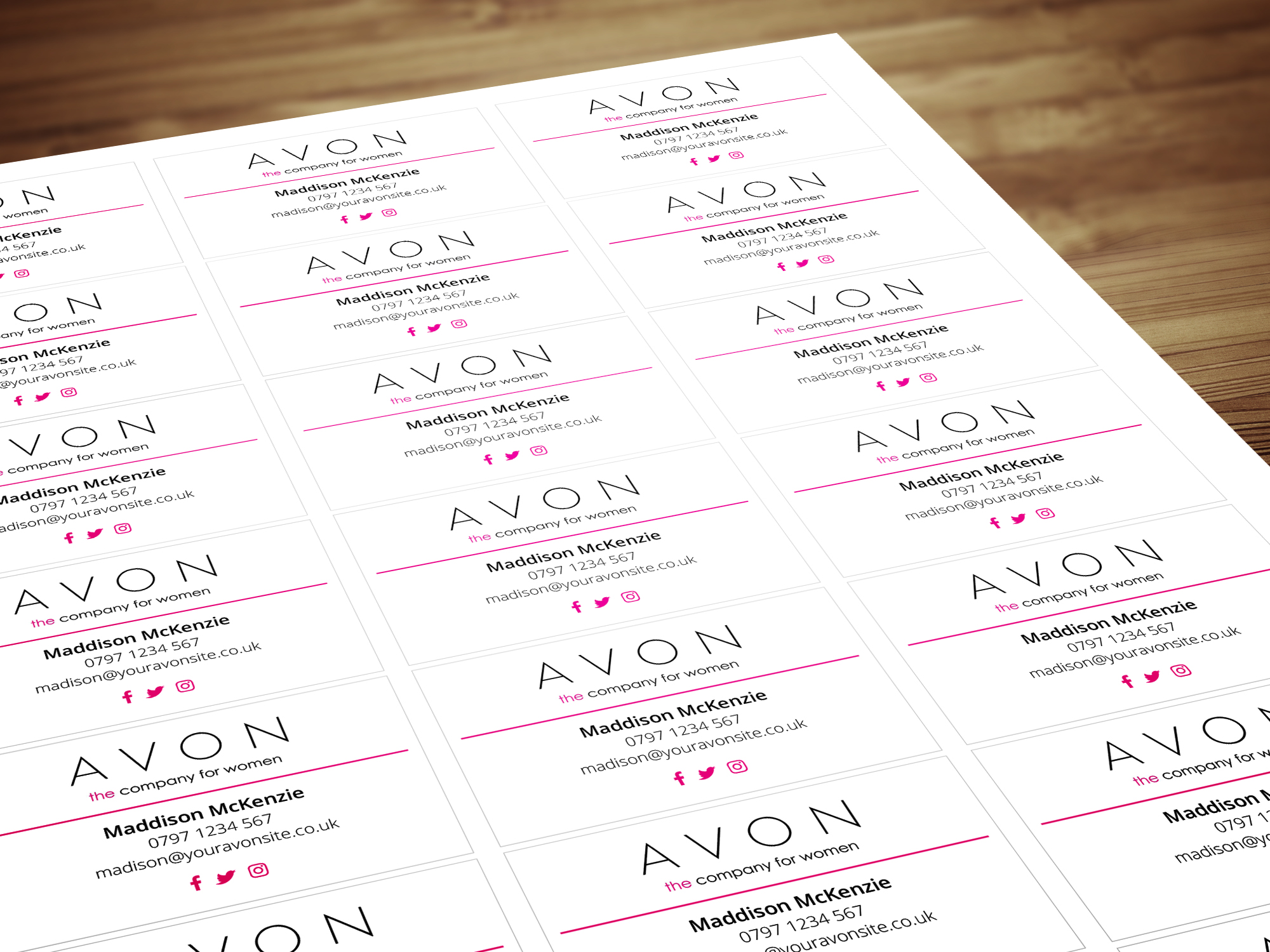 Personalised labels stickers for avon sales representatives about blog contact reheart Images